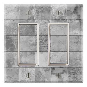 Slate Tile Ceramic Texture Squar Light Gray Print
