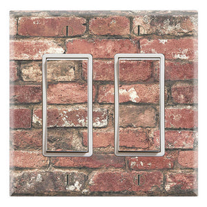 Red Brick Design Background Print