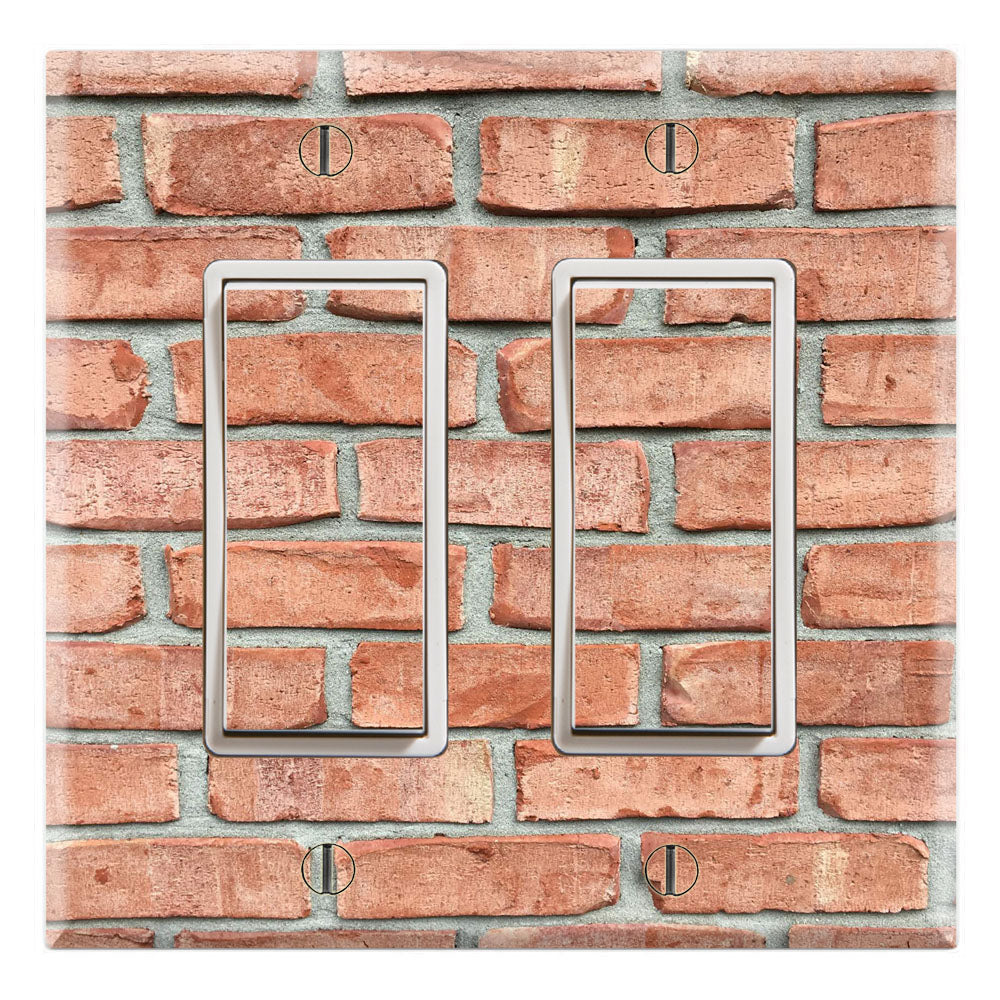 Muro Red Brick Wallpaper Design Print