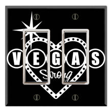 Load image into Gallery viewer, Vegas Strong Heart Shape Black