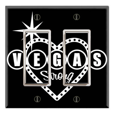 Vegas Strong Heart Shape Black