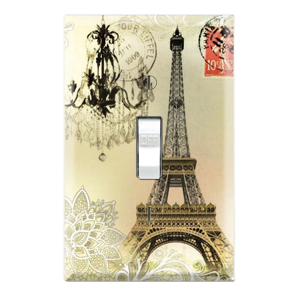 Vintage Lace Pattern Chandelier Paris Eiffel