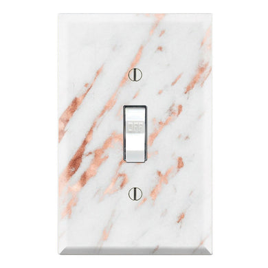 Rose Gold Marble Blend Aesthetic Print