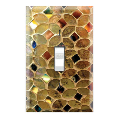 Mosaic Glass Texture Design Background Print
