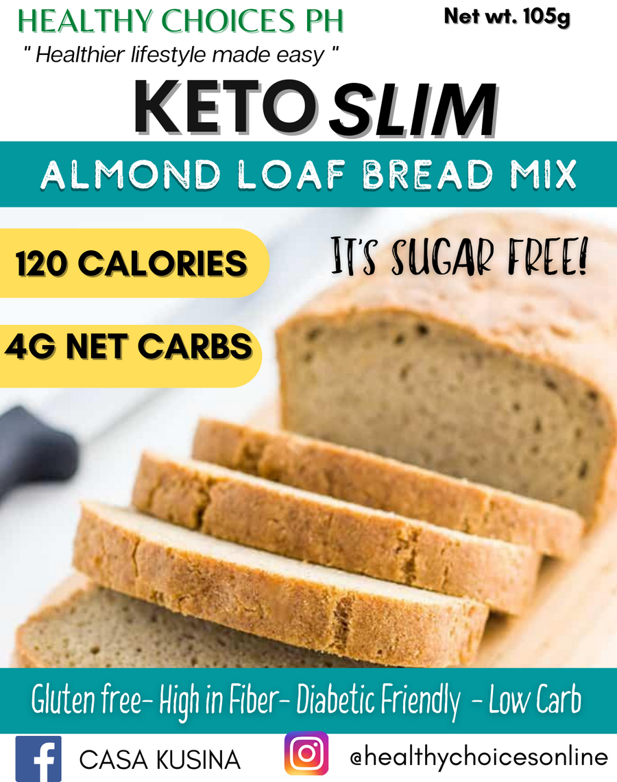 Keto Slim Bread Mix - Low Carb, Gluten Free 110g - Healthy Choices PH by Casa Kusina
