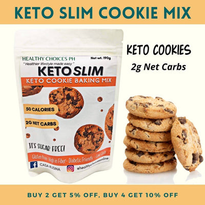 KETO Slim Cookie Mix - 190g (gluten-free, safe for diabetics) - Healthy Choices PH by Casa Kusina
