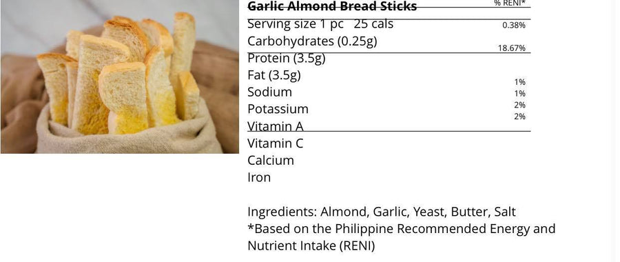 Keto Almond Breadsticks- 225g (20pcs) (Metro Manila SAME DAY Delivery) - Healthy Choices PH by Casa Kusina