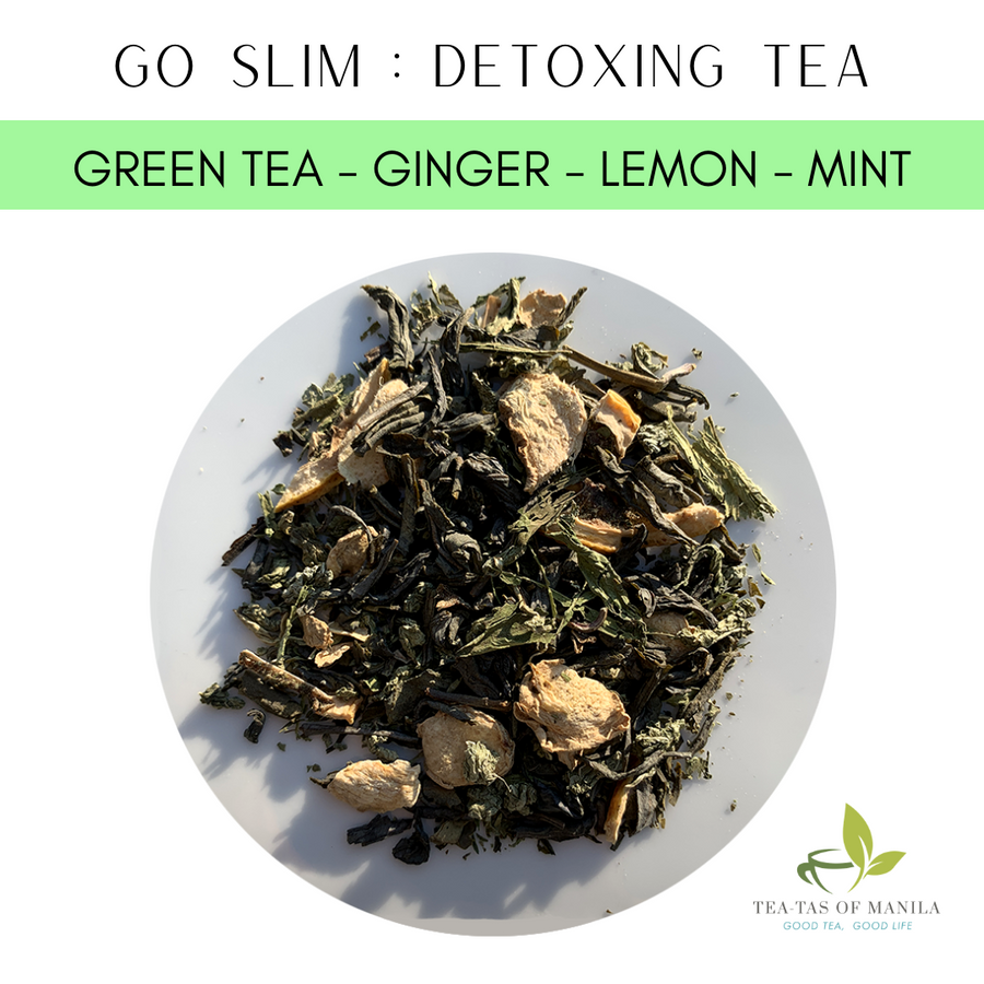Detox-zing (Green tea, Ginger, Lemon, Mint)- 30-50 servings - Healthy Choices PH by Casa Kusina