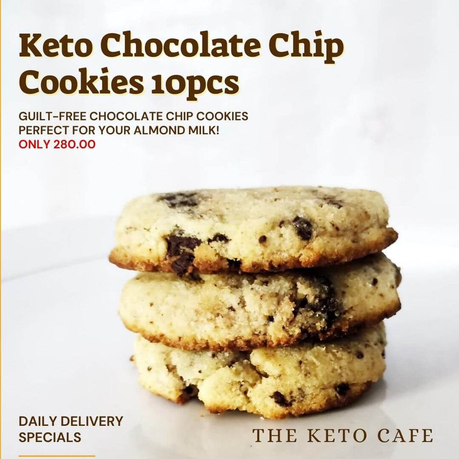Keto Almond Chocolate Chip Cookies - (10pcs) Metro Manila Delivery Only - Healthy Choices PH by Casa Kusina