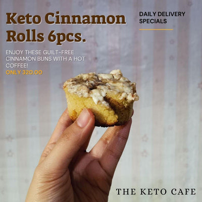 Keto Cinnamon Rolls (6pcs) (Metro Manila delivery only) - Healthy Choices PH by Casa Kusina
