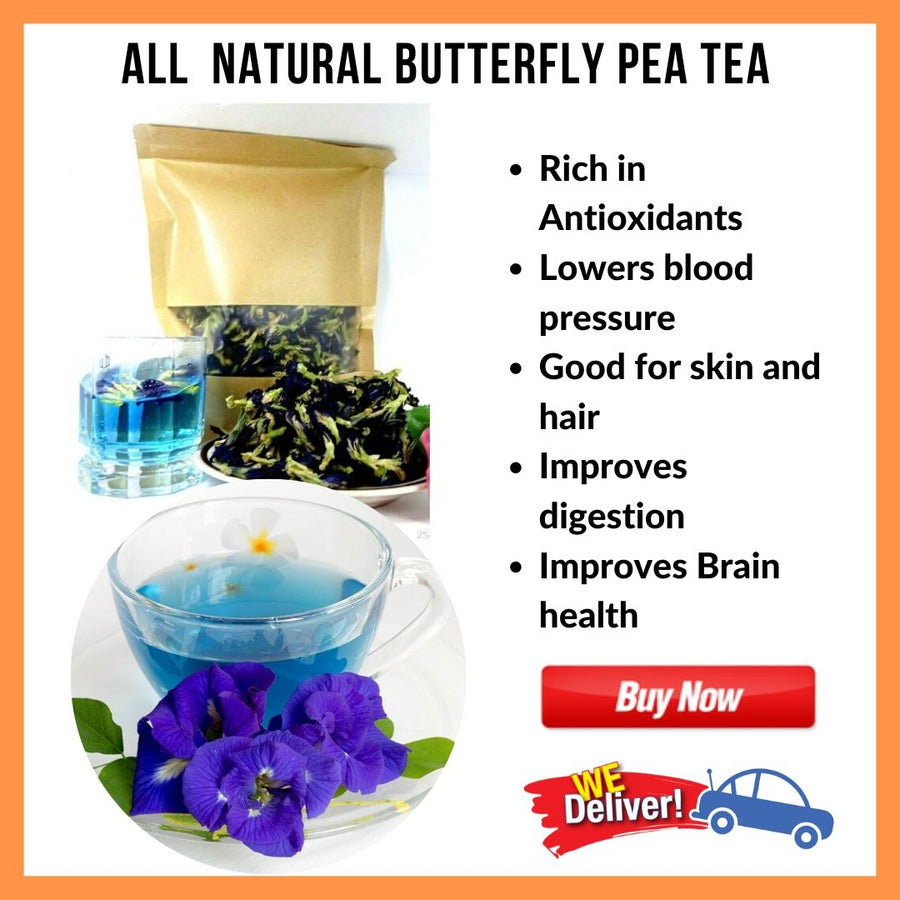 100% Natural Butterfly Pea Tea - (Anti-aging and Stress reliever) 50g - Healthy Choices PH by Casa Kusina