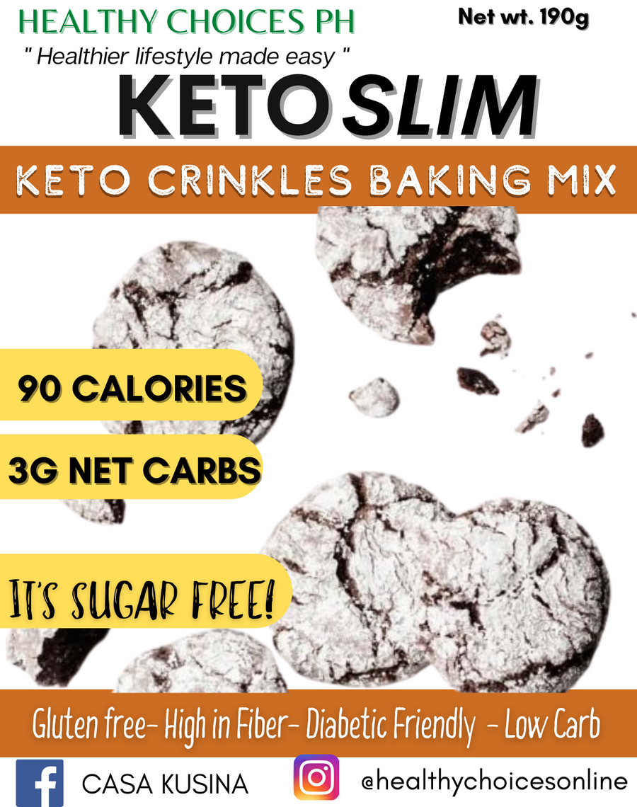 KETO SLIM Crinkles Mix - 190g (gluten-free, safe for diabetics) - Healthy Choices PH by Casa Kusina
