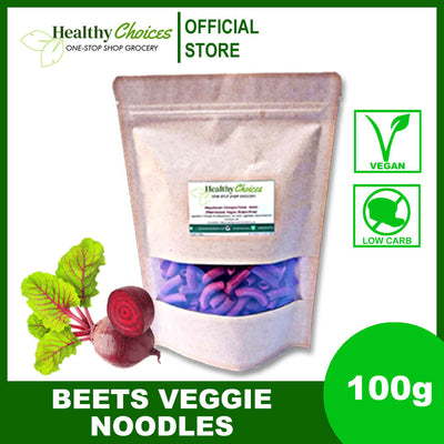 Beets Veggie Noodles 100g (vegan and safe for diabetics) - Healthy Choices PH by Casa Kusina