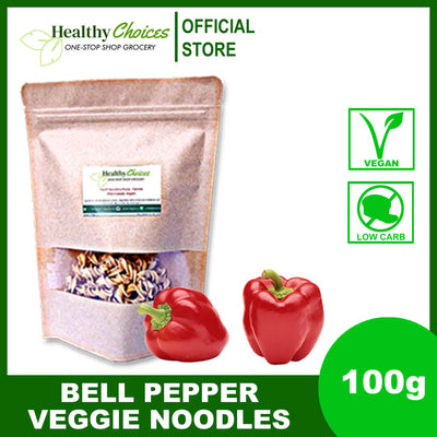 Red Bell Pepper Veggie Noodles 100g - Vegan, Safe for Diabetics - Healthy Choices PH by Casa Kusina