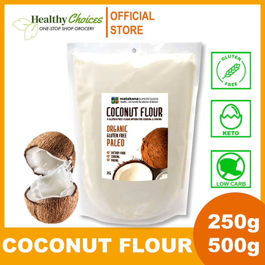 Organic Coconut Flour 250g and 500g - Healthy Choices PH by Casa Kusina