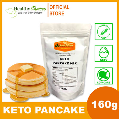 KETO PANCAKE MIX - LOW CARB, GLUTEN FREE 160g - Healthy Choices PH by Casa Kusina