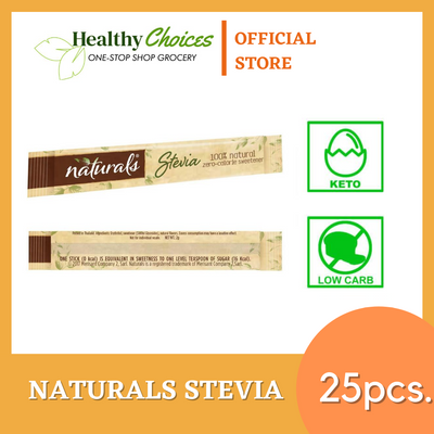 Naturals Stevia Keto Sweetener 25 pcs (Repacked) - Healthy Choices PH by Casa Kusina
