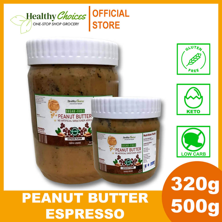 NEW VARIANT: CHIA and Espresso Keto Peanut Butter - Sugar-free, Halal, Vegan (320g) - Healthy Choices PH by Casa Kusina