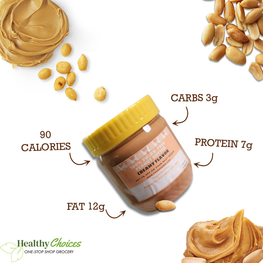 Keto Peanut Butter - Sugar-free, Halal, Vegan (320g and 500g) - Healthy Choices PH by Casa Kusina