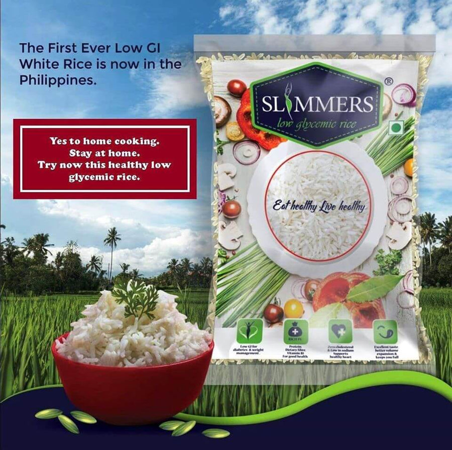 SLIMMER'S RICE -First ever LOW GLYCEMIC rice in PH! (safe for diabetics ) 1kg - Healthy Choices PH by Casa Kusina