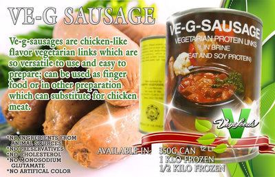 Vegan Sausage (Halal, FDA Approved) 350g - Healthy Choices PH by Casa Kusina
