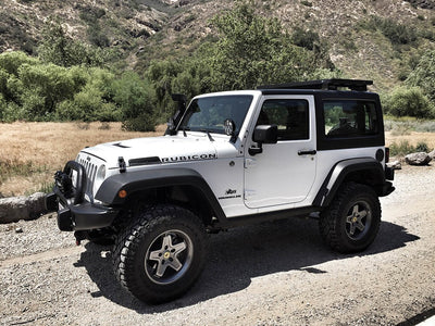 Jeep Wrangler JK 2 Door (2007-2018) Slimline II 1/2 Extreme Roof Rack Kit
