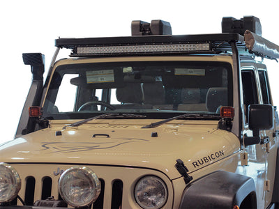 Jeep Wrangler JK/JKU Windshield Spot Light Brackets