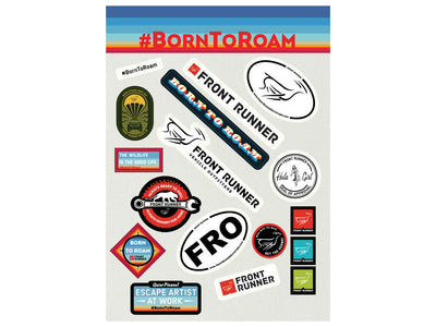Born To Roam Sticker Set
