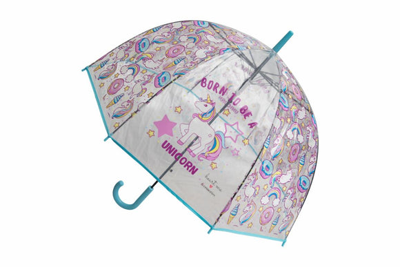 Blue Born To Be A Unicorn Umbrella
