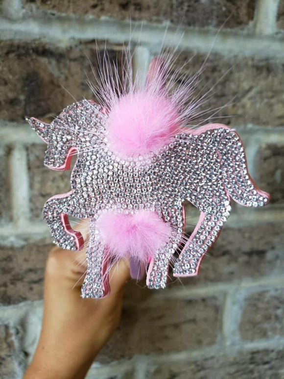 Crystal Unicorn Fur Headband
