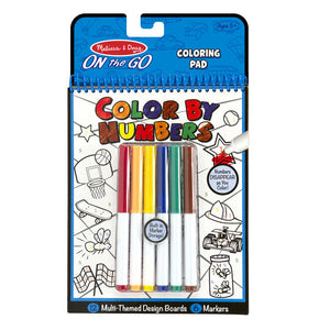 On the Go Color by Numbers Kids' Design Boards With 6 Markers - Playtime, Construction, Sports, and More!
