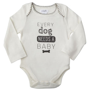 """Every Dog needs a Baby"" Onesie"