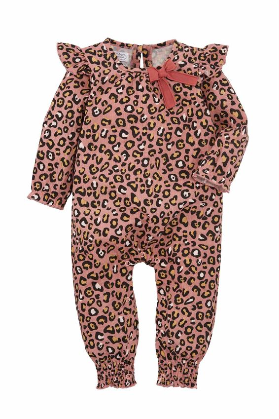 Mud Pie Pink Leopard Sleeper