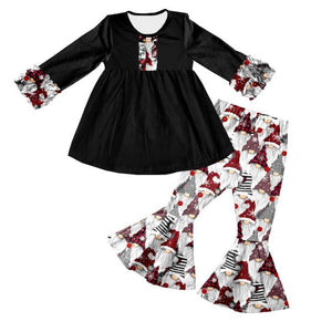 Christmas Gnome Top and Bell Bottoms Set