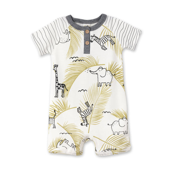 Tesa Babe Wild Safari Shortie Romper - Organic Cotton