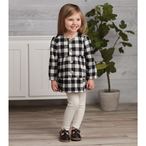 MUD PIE BLACK CHECK TUNIC LEGGING