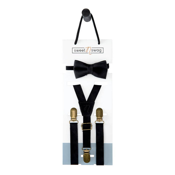 Sweet N Swag - BOW TIE SET - THE PERFECT MATCH - EBONY