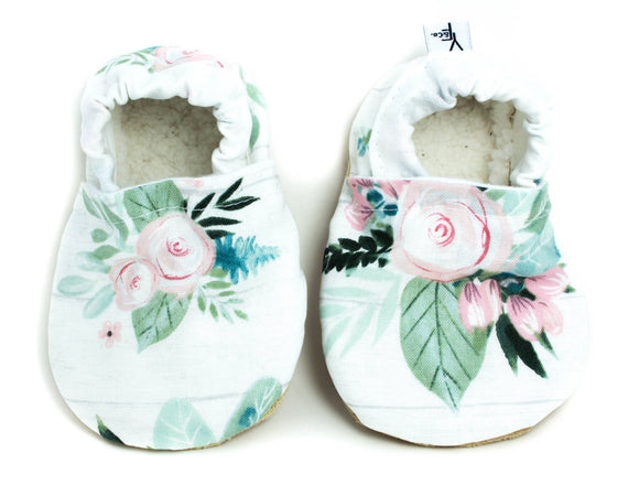 Yeti Moccs - Watercolor Rose Baby Moccs