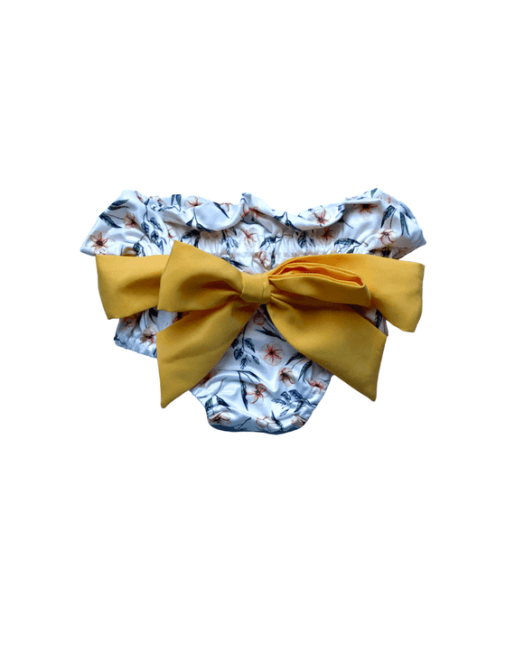 Brandi Bow Front High Waist Bloomer - Lemon Tart