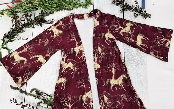 Horses in the Woods Cardigan
