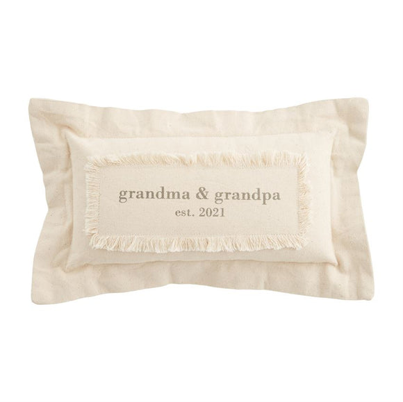 Grandparents Est. 2021 Pillow