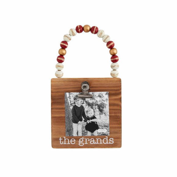 Mud Pie The Grands Wood Bead Photo Ornament