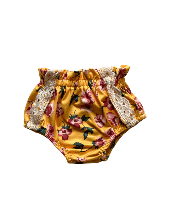 Leana Lace Front Bloomers - Sun Bloom Yellow