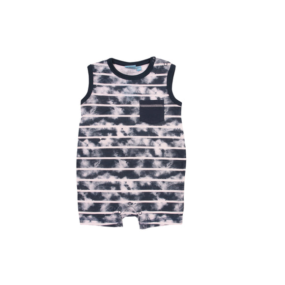 Bear Camp Hector Burnout Stripe Tank Romper