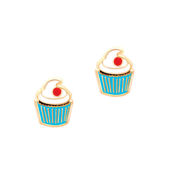 Girl Nation - Classic Cupcake Cutie Stud Earrings