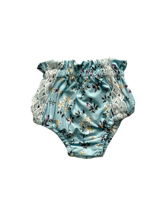 Leana Lace Front Bloomers - Lake Blue Blossom