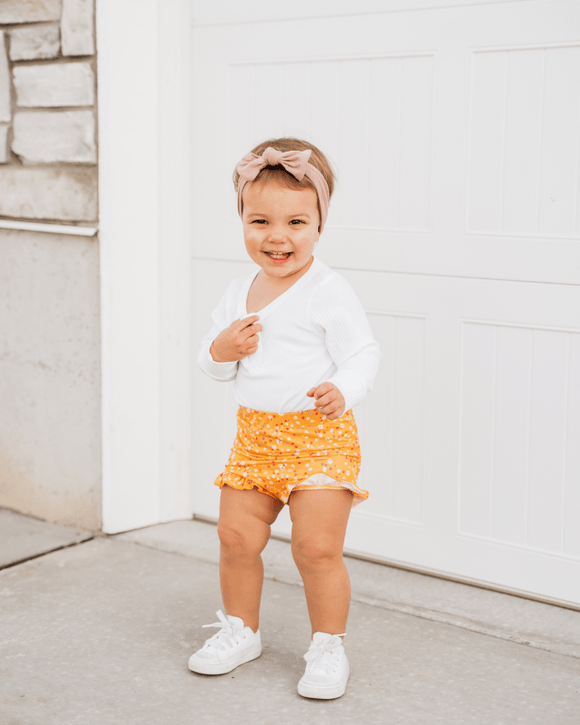 Belle High Waist Bloomer - Apricot