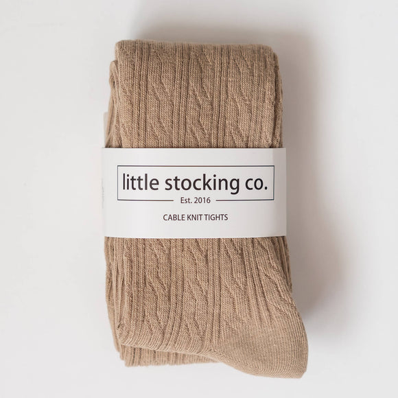 Little Stocking Co. - Oat Cable Knit Tights