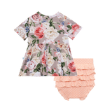 Posh Peanut - Cassie - Short Sleeve Basic Peplum Top & Bloomer Set