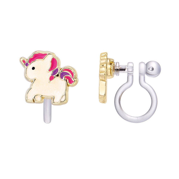 Girl Nation - CLIP ON Cutie Earrings- Magical Unicorn